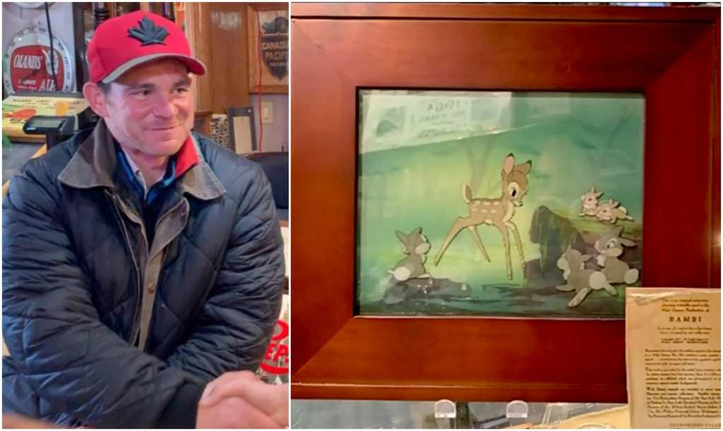 Brilliant Homeless Man Finds Rare Bambi Painting That Winds Up Being Interior Design Ideas Inesswwsoteloinfo