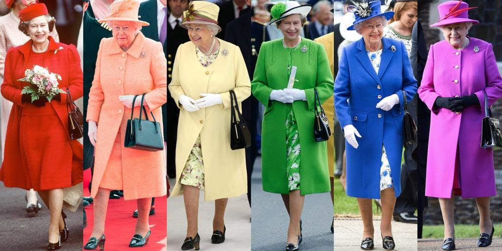 Queen Elizabeth's Bright-Colored Wardrobe