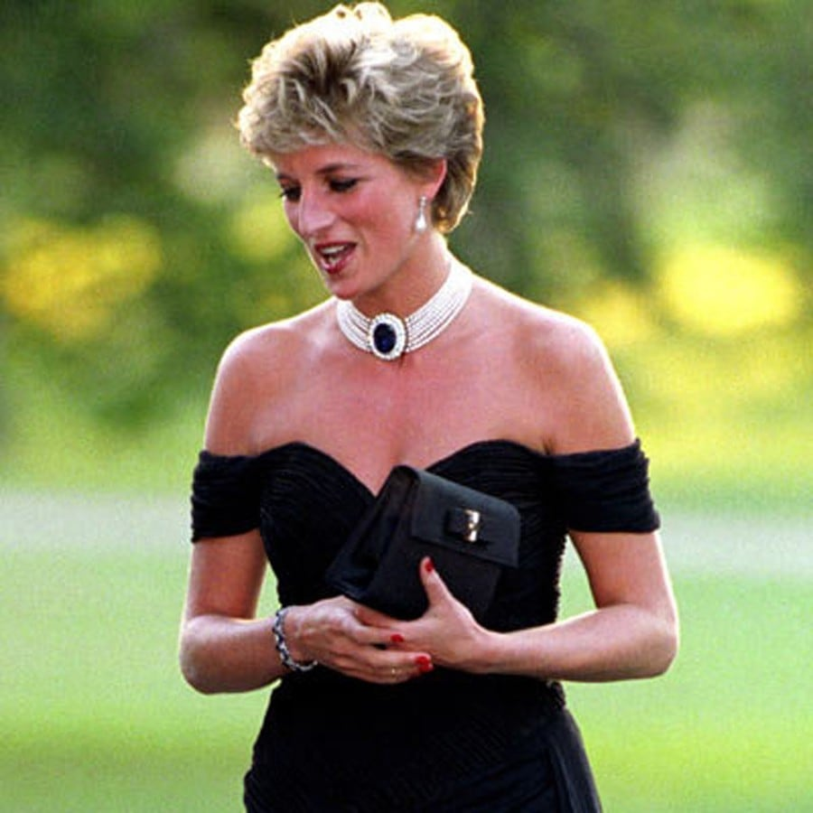 Princess Diana Black Dress