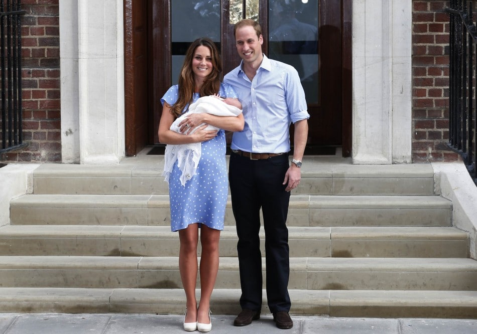 Kate & Prince William with baby George