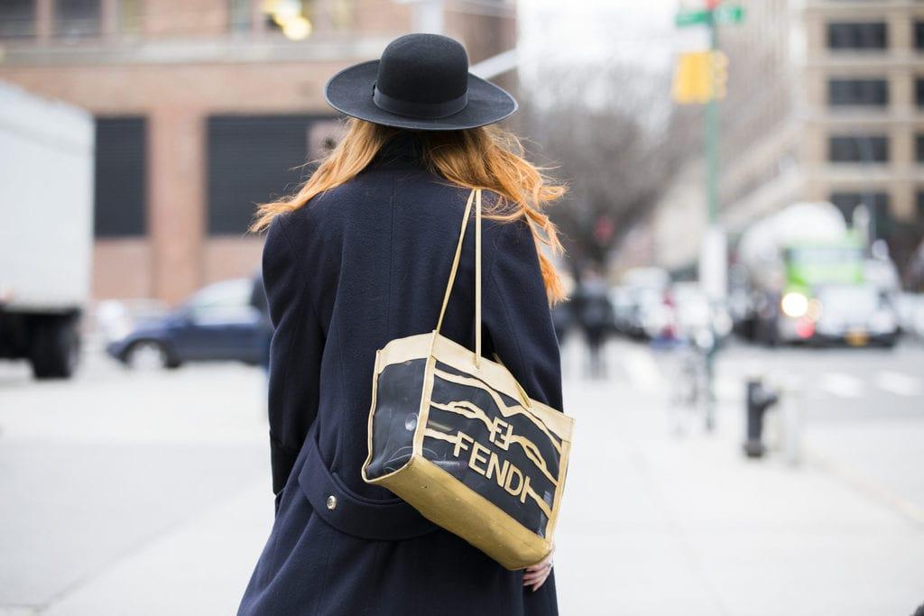 Woman caring a tote bag