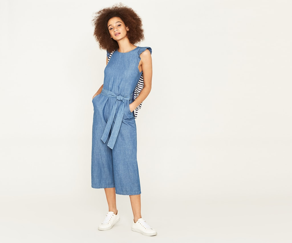 Denim Jumpsuits for stylish work-at-home appearance