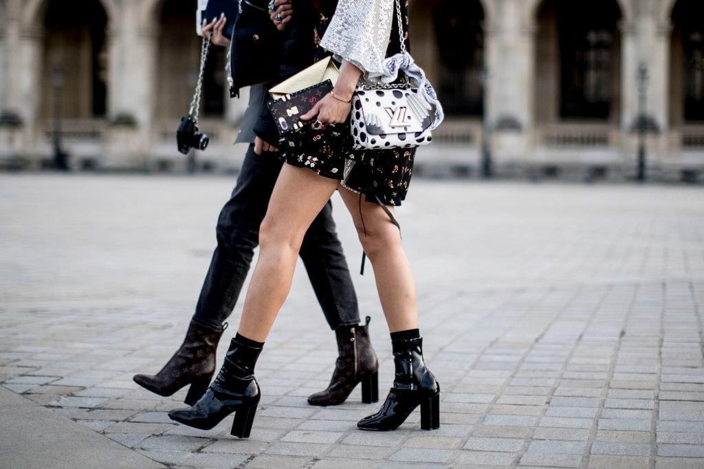 Women wearing boots on the street