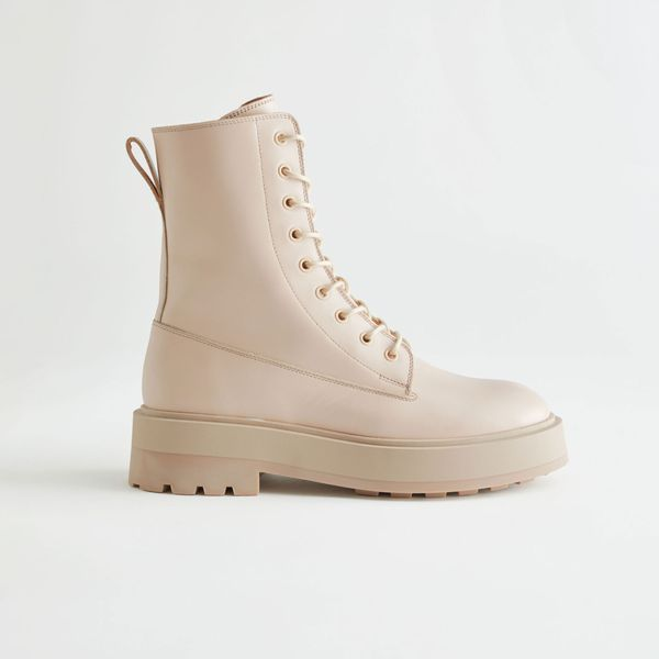& Other Stories Chunky Platform Leather Boots