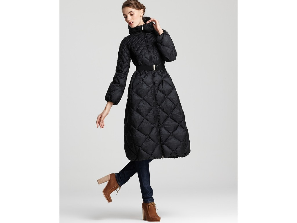 Woman wearing a quilted coat