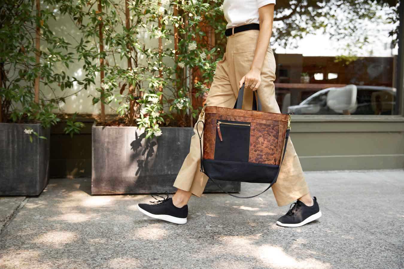 A handbag design made using Mylo leather