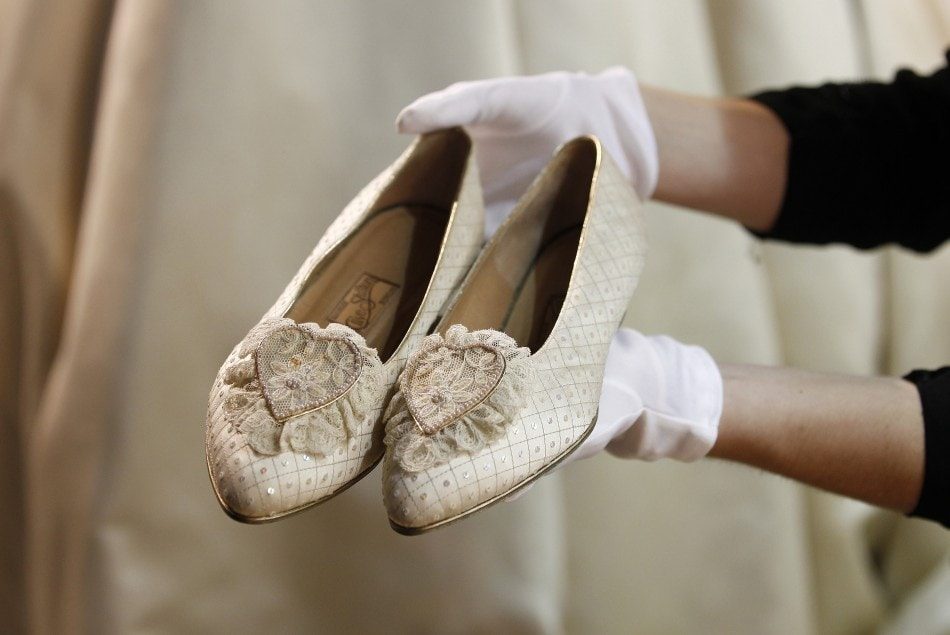 Princess Diana's wedding shoes