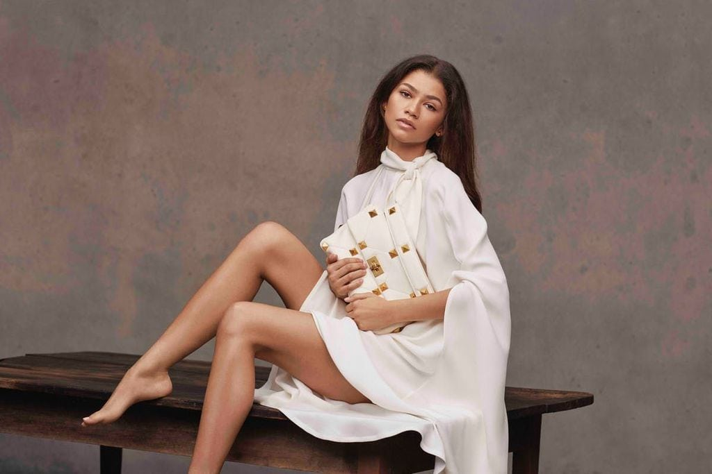 Zendaya Modelling for Valentino's Roman Stud Accessories