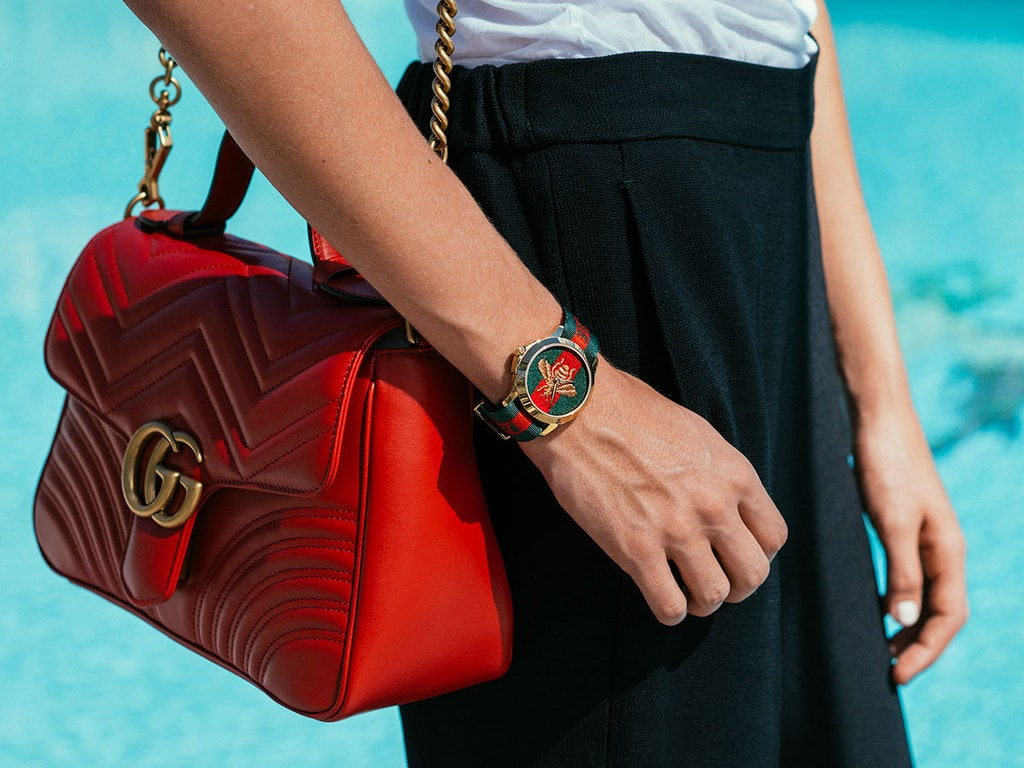 Gucci watch and handbag