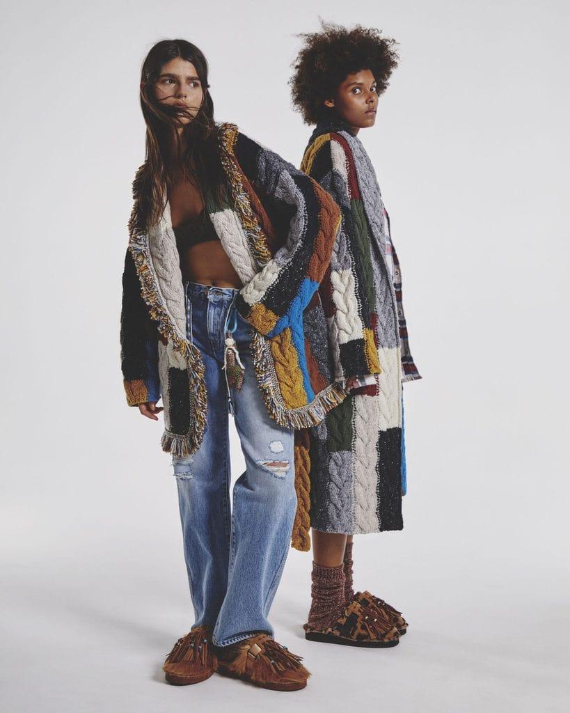 Two Alanui Knitwear Models