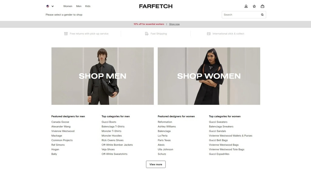 Farfetch website