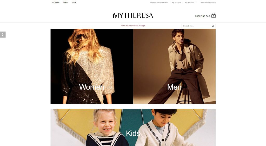 MyTheresa website