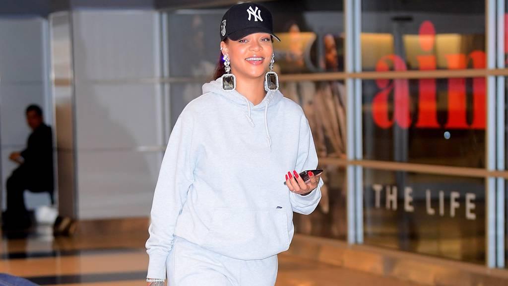 Rihanna wearing stylish loungewear