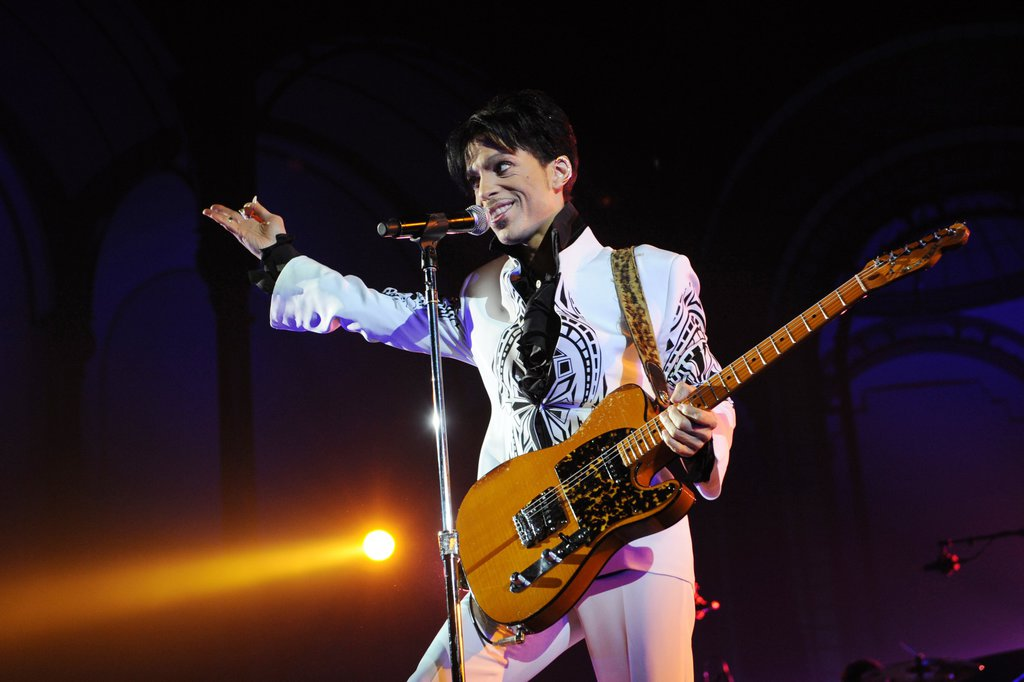 Prince during a performance