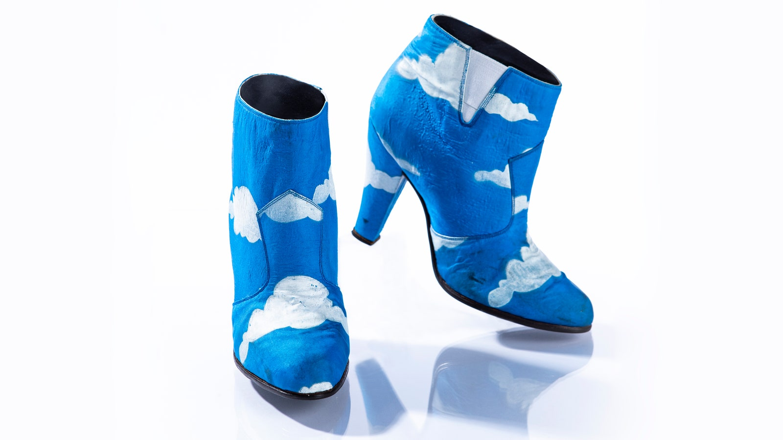 """The cloud-painted blue shoes from the """"Raspberry Beret"""" music video"""