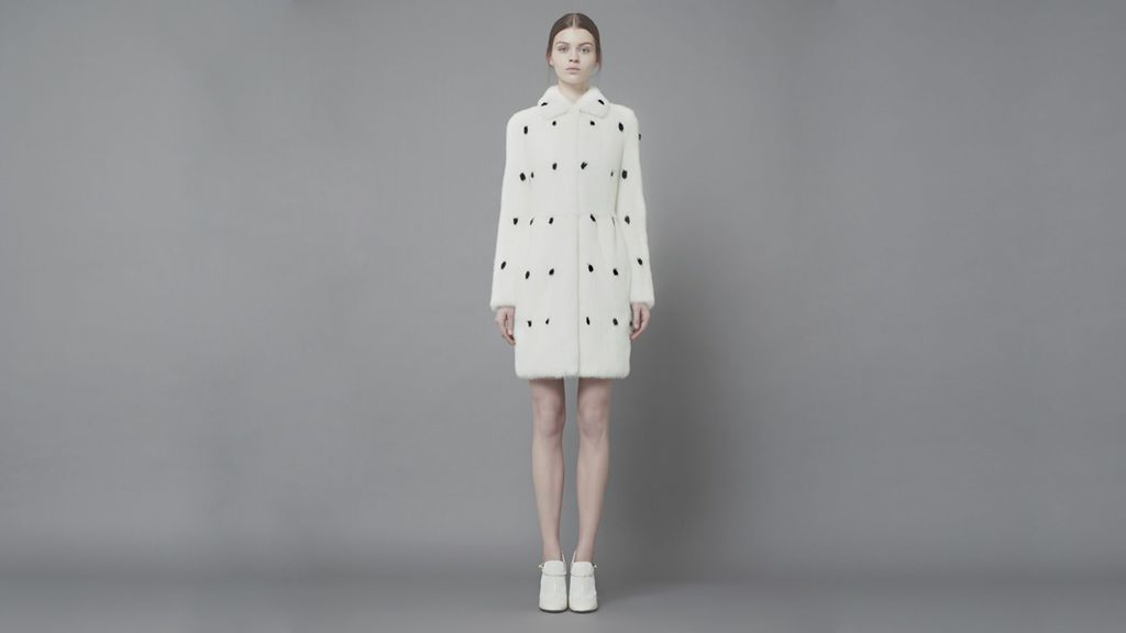 A fur coat by Valentino